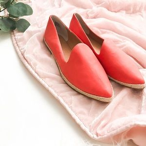 Anthropologie Seychelles Orange espadrille flats